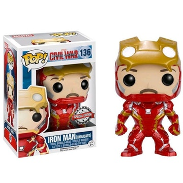 Funko Pop Special Edition Ironman Unmasked Civil War