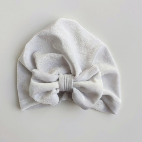 Turbante velvet blanco