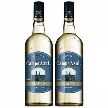 Tequila Duo Pack Campo Azul Clásico Reposado 750ml