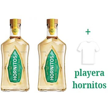 Tequila Sauza Hornitos Reposado 700ml x2 + playera
