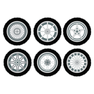 SET 6 POSAVASOS / Wheels