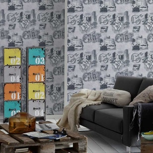 Papel Mural Boys & Girls 5 304681 Gris