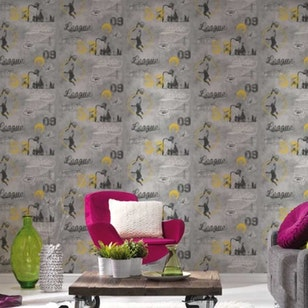 Papel Mural Boys & Girls 5 953871 Gris