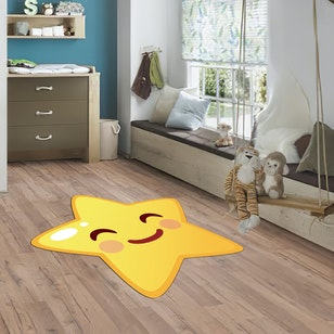 Alfombra de PVC/ Happy Star (145x145)