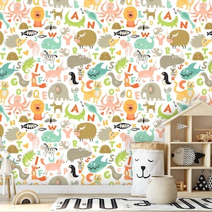 Papel Mural / Animal Letters