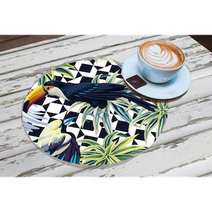 Set de 2 Individuales / Tropical Birds
