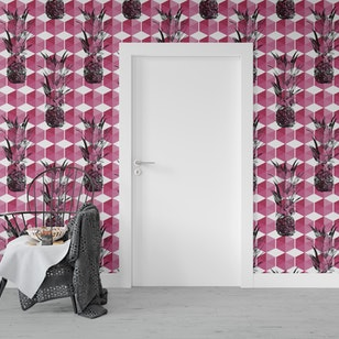 Papel Mural / Pink pineapple