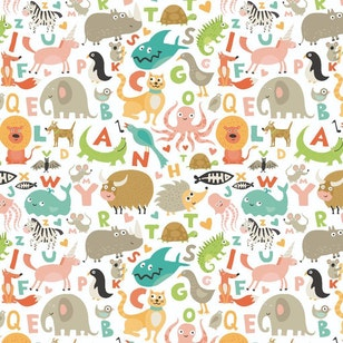 Piso Vinilico Kids - Animal Zoo 145x145