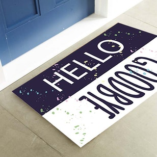 Tapete Decorativo Para Puerta / Hello Goodbye
