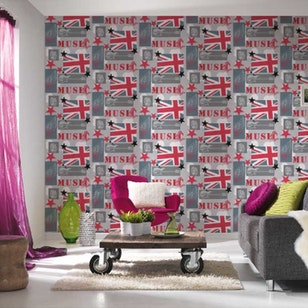 Papel Mural Boys & Girls 5  961701 Rojo