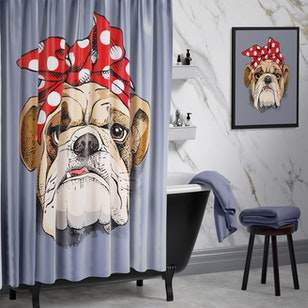 Cortina de Baño Pop Bulldog