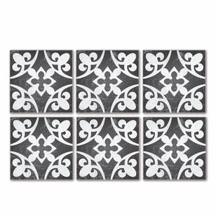 Set 24 Baldosas autoadhesivas /  Royalty Grey  / 10x10 cm