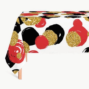 Mantel Dots Red Gold