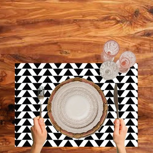 Set de 2 Individuales Vinilicos / white black