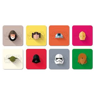 SET 8 POSAVASOS / StarWars