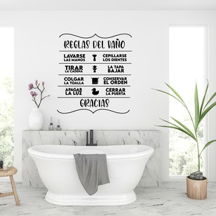 Adhesivo Baño / Bathroom Rules