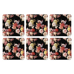 SET 6 POSAVASOS / Flower Sky Black