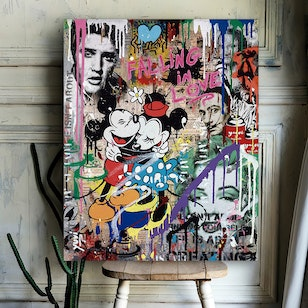 Cuadro Canvas / Mouse Love (50x60)