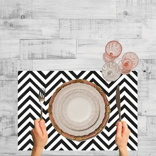 Set de 2 Individuales Vinilicos / Chevron