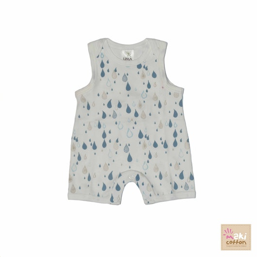 Boy sleeveless playsuit