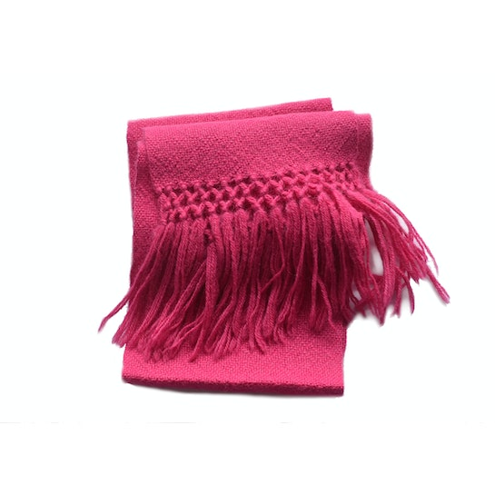 Bufanda alpaca color fucsia intenso