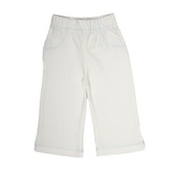 Pull on Pants Eco-white with blue edging