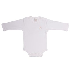 Embroided basic onesie pink