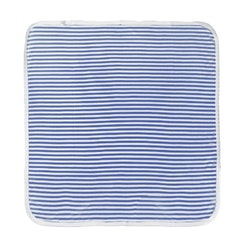 Blue striped  receiving blanket