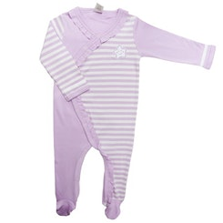 Long sleeve footed one piece lilac