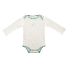 White and green whale onesie
