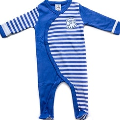 Long sleeve footed one piece blue