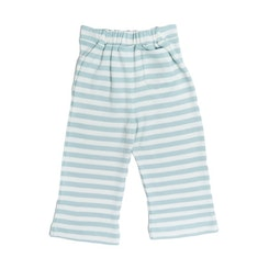 Pull on Striped Pants Aqua