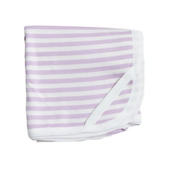 Pink striped receiving blanket