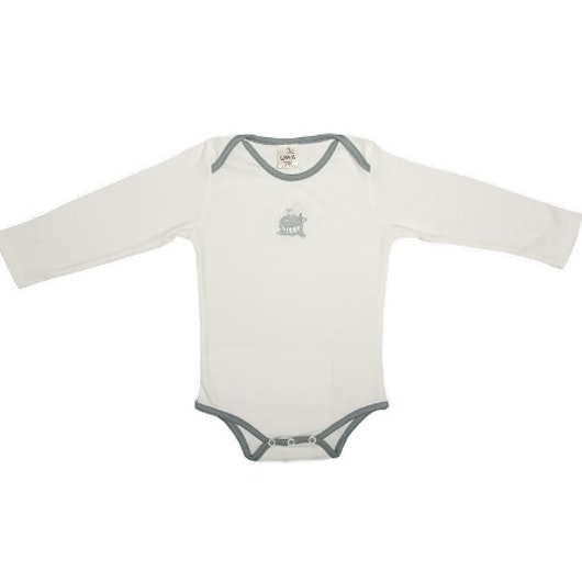 White and grey whale onesie