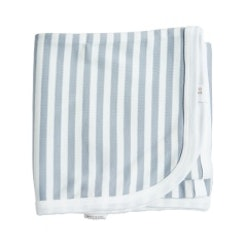 Grey striped receiving blanket