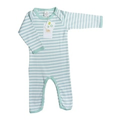 Striped playsuit Aqua