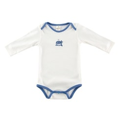 White and blue whale onesie