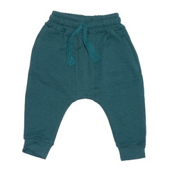 French terry pants green