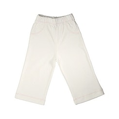 Pull on Pants Eco-white with pink edging