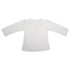 Girl long sleeve tee white