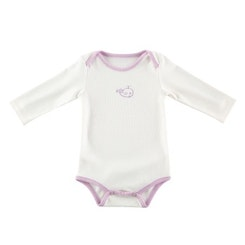 White and pink whale onesie